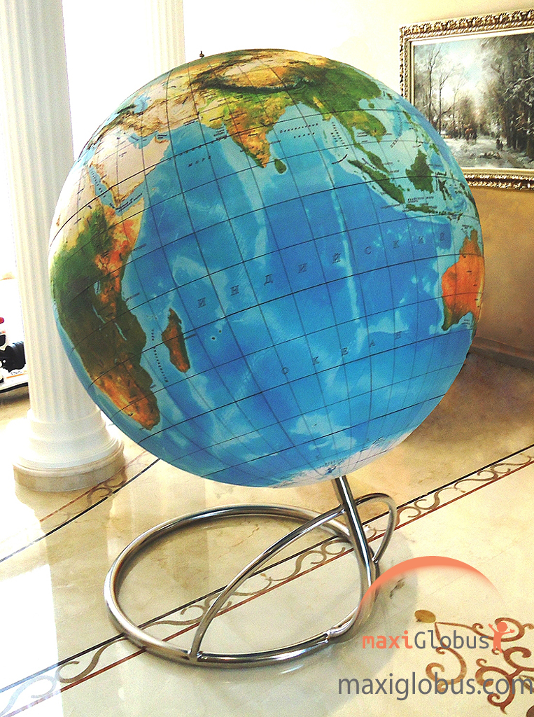 Globe of the World geographical relief