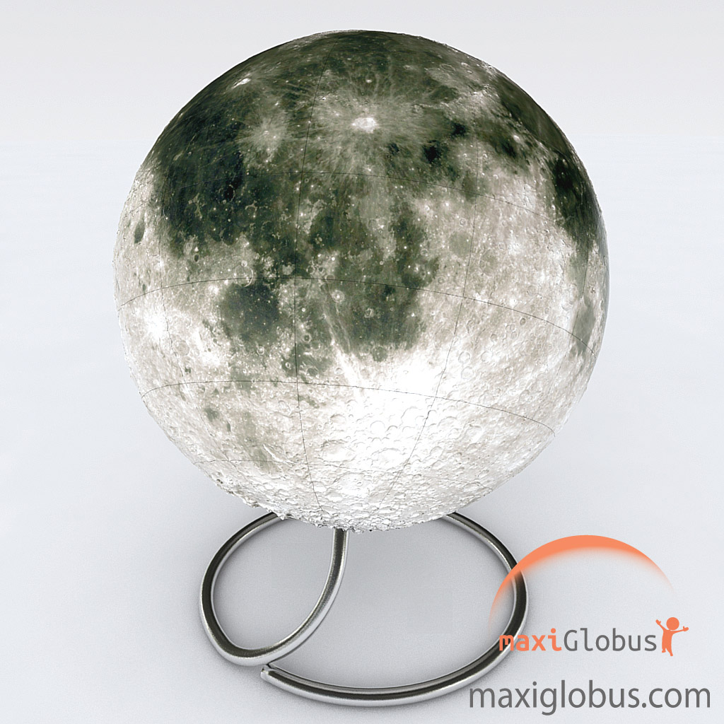Globe of Moon space relief