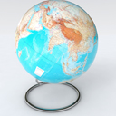 Globe of the World geographic relief