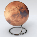 Globe of Mars space relief